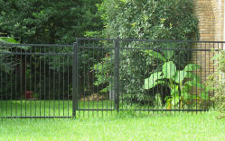 Custom fencing by Brenham Iron Works